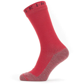 Sealskinz Waterproof Warm Weather Soft Touch Mid Sokken, red/red marl